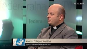 Ravnatelji Hrvatskog i Bosanskohercegovačkog Caritasa na Feredalnoj TV